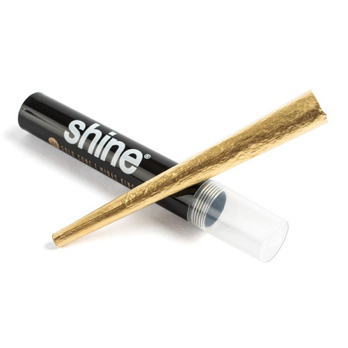 Cone - Shine Gold King Size C/ 1 Und. Rolling Paper
